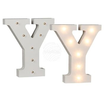 Beleuchteter Holz-Buchstabe Y, mit 7 LED, ca. 16 c
