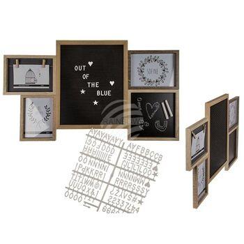 Holz-Bilderrahmen, Frame & Board, ca. 74 x 43 cm