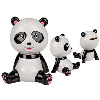 Keramik-Spardose, Panda, ca. 16 cm