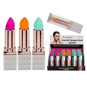 Kunststoff-Kosmetikschwamm, Lippenstift