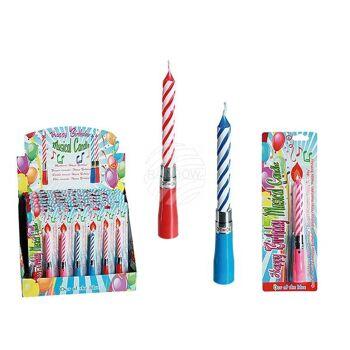 Musikkerze, Happy Birthday, 3-farbig sortiert