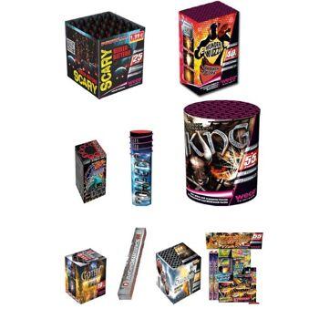Palette Silvester Feuerwerk mit Raketen, Böller, Batteriefeuerwerk, Leucht-, Party- und Jugendfeuerwerk