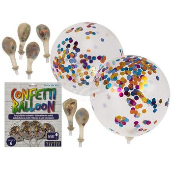 Party-Luftballon, Celebration, mit Konfetti