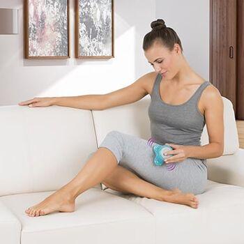 Massagegerät to go blau, inklusive 3x AAA Batterien, 4,5 V DC Vitalmaxx
