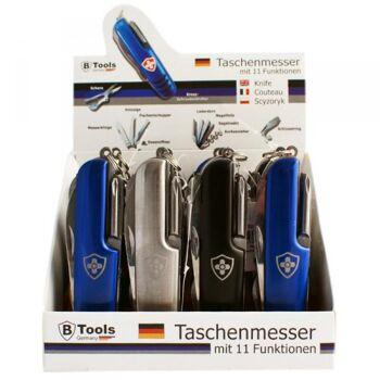 Taschenmesser mit Lasergravur im 12er Display (3 Farben)