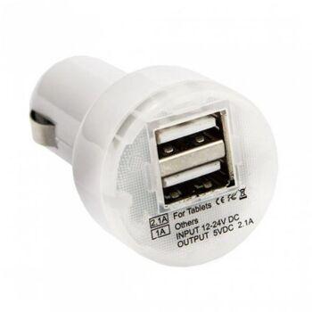Universal USB Auto KFZ Ladegerät Adapter 12V - Weiß