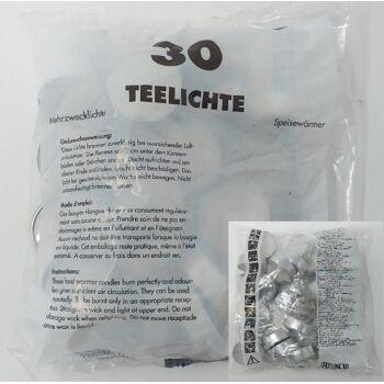 12-2639181030, Teelichter 30er Pack weiss Deutsche Qualität, Teelichtkerze, Speisenwärmer, Mehrzweckteelicht