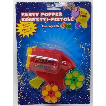 12-52301, Konfettikanone mit Munition, mit 12 Schuss, Konfettipistole, Party Popper