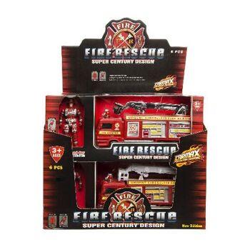 21-3825, Feuerwehr Spielset 31 cm, mit LKW und Männchen, Spielfigur