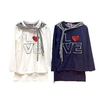 Kinder Mädchen Pullover Maritim Applikation Pailletten Patches Langarmshirt Sweatshirt Pulli Sweater Kinderpullover Oberteil - 4,90 Euro