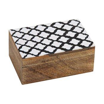 Schmuckkiste Retro Dekor aus Mango Holz, Kunststoff Braun (B/H/T) 15x7x10cm