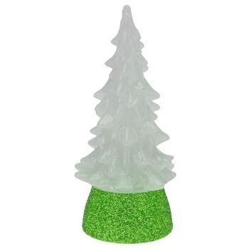 28-312331, Weihnachtsbaum 10 cm, mit LED Licht, mit Farbwechsel