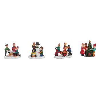 Miniatur Kindergruppe aus Poly, 4-fach sortiert, 4 cm