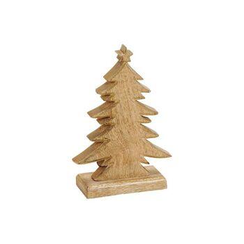 Tannenbaum aus Mango Holz Braun (B/H/T) 12x20x6cm