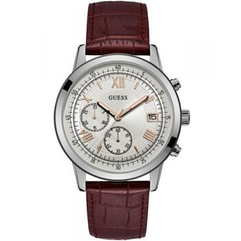 Guess Uhr Uhren Herrenuhr Chronograph W1000G2 Summit Leder