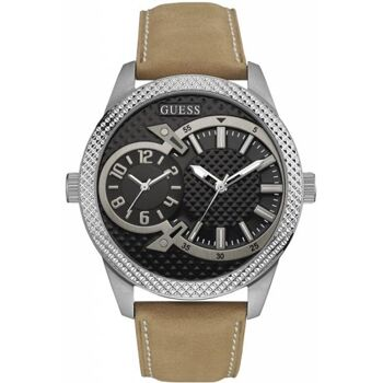 Guess Uhr Uhren Herrenuhr W0788G2 Co-Pilot Leder hellbraun