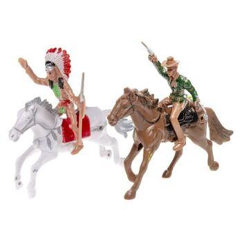 21-2551, Wild West Spielset Cowboy und Indianer, Pferd mit Figur