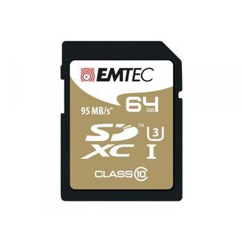 SDXC 64GB EMTEC SpeedIn CL10 95MB/s FullHD 4K UltraHD Blister