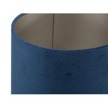 Tischleuchte Violetta groß Fuß Metall Schirm Samt