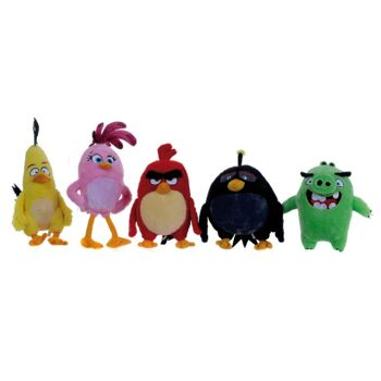 35-7074, Angry Birds Movie Plüsch Sortiment 25-32 cm