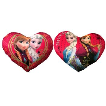 35-8486, Disney Frozen Plüsch Herz-Kissen 35 cm, Herzkissen in Herzform aus Disney Eiskönigin