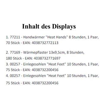 12-9900262, Wärmeartikel Sonderdisplay  Wärmepflaster Heat Feat  usw.
