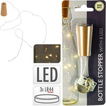 28-283093, LED Flaschenkorken mit 8er LED Lichterkette