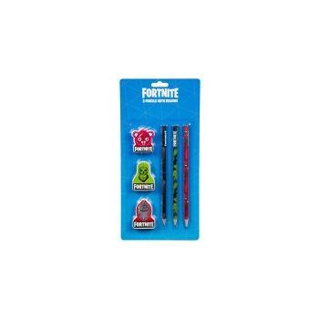 35-9494, Fortnite Schreibset, 3 Stifte, Pencils und Radiergummi