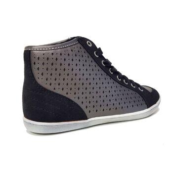 Schwarz / silberne Schuhe - Merry Scott hohe Damenschuhe