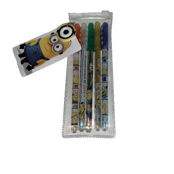 35-9372, Minions Glitter Gelstifte 4er Set