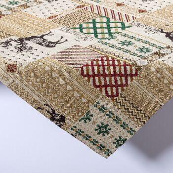 Gobelin Tischdecke Mitteldecke Tischwäsche Motiv Rose 80x80 cm
