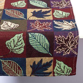 Gobelin Tischläufer Tischband Motiv Blatt 40x150 cm