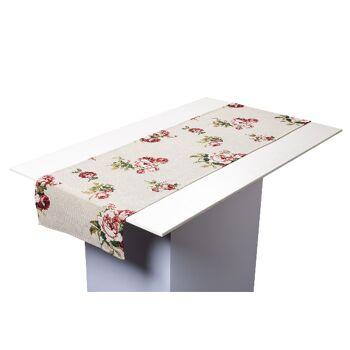 Gobelin Tischläufer Tischband Motiv Rose 40x150 cm