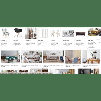 Möbel Posten Mit Liste A + B-Ware Mix groß und kleinposten 14% vom VK Preis