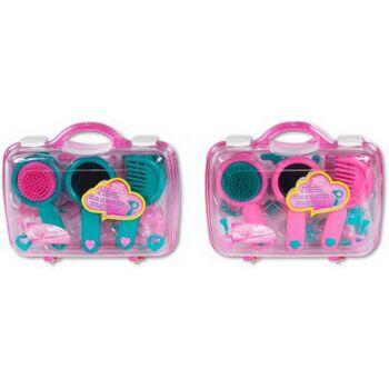 Amia Frisierkoffer mit Zubehör, rosa, 1 Stück