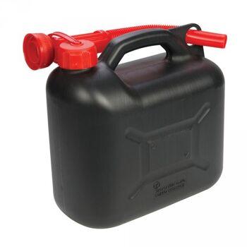Kraftstoffkanister aus Kunststoff, 5 l, Schwarz