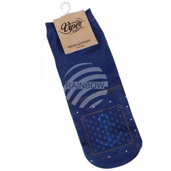 Motiv Socken Anker Streifen maritim blau