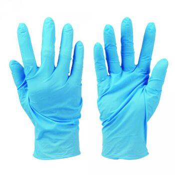 Silverline Nitril-Einweghandschuhe, puderfrei, 100er-Pckg., Blau, Größe XL