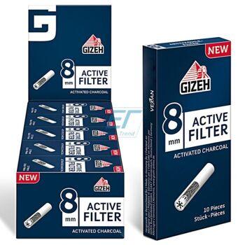 GIZEH Active Filter Aktivkohle 8mm 10er Box