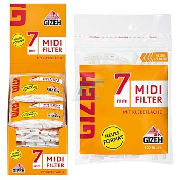 GIZEH Midi Filter 7mm 10 x 100er Beutel
