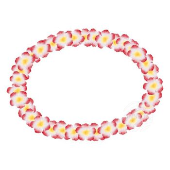 Hawaii Blumenkette classic gelb weiß rot