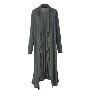 Long – Strickjacke mit Zipfelsaum