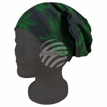 Strickmütze Long Beanie Slouch Mütze grün