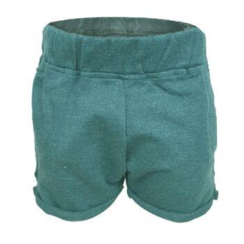 blaue Melange Little Love Baby / Kinder Shorts