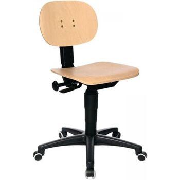 Arbeitsdrehstuhl mit Rollen Buche Sitz-H. 420-550 mm m. Kontaktrückenlehne