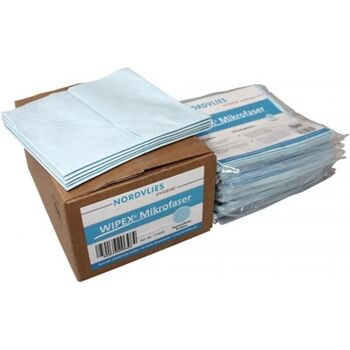 NORDVLIES Mikrofaser-Wischtuch blau, L400xB380ca. mm, Vliesstoff 10 x 5 Tücher
