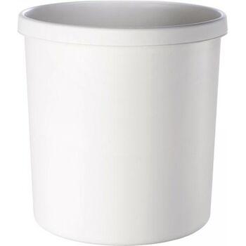 Papierkorb 18l mit Griffrand, Kunststoff, hellgrau, 5 Stück