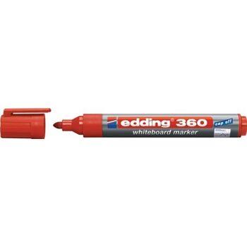 Whiteboardmarker 360, rot, Strichbreite 1,5-3 mm Rundspitze, 10 Stück