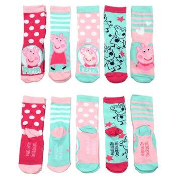 27-46226, Socken Peppa Pig 5er Pack, Größe 23/26
