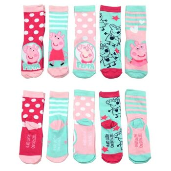 27-46227, Socken Peppa Pig 5er Pack Größe 27/30